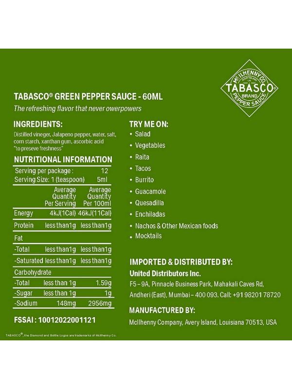 Tabasco Green Pepper Sauce 60 ml