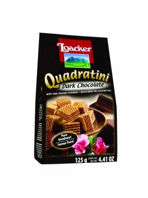 Loacker Quadratini Dark Chocolate 125gm
