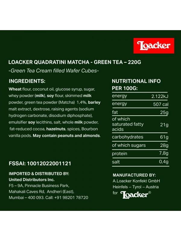 Loacker Matcha Green Tea 220gm