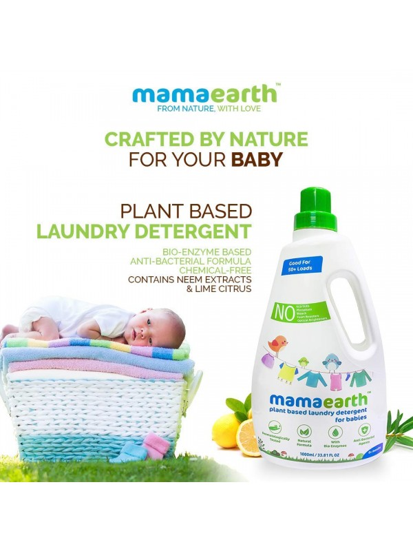 Mamaearth Plant Based Laundry Detergent (Saver Pack Get 60% Extra) 1.8 L