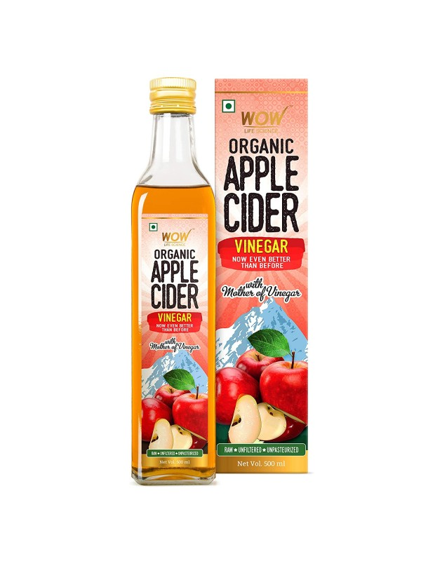 Wow Life Science Organic Apple Cider Vinegar 500 ml