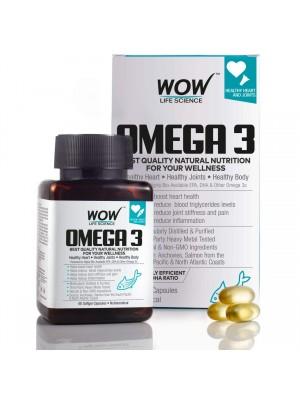 Wow Omega-3 Fish Oil Triple Strength 1000Mg (550Mg Epa, 350Mg Dha, 100Mg Other Omega 3 Fatty Acids) 60Capsules