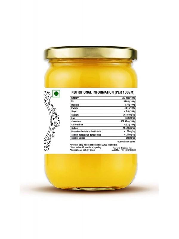Girej A2 Grass-Fed Gir Cow Ghee Through Bilona Method 100% Pure (500 ml)