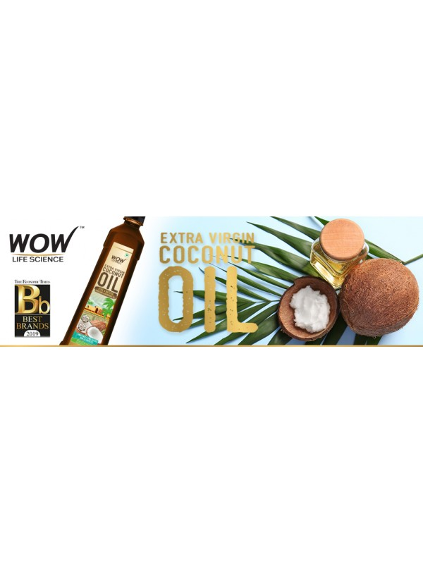 Wow Life Science Extra Virgin Coconut Oil 400 ml