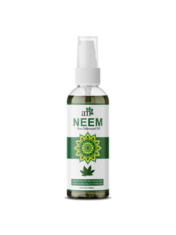 Aroma Musk USDA Organic 100% Pure Cold Pressed Neem Oil For Hair, Skin & Nails Natural Insect Repellent 100 ml