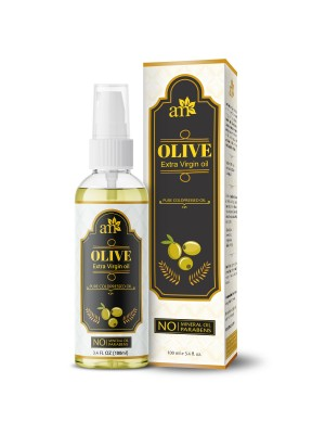 Aroma Musk 100% Pure Cold Pressed Extra Virgin Olive Oil For Hair And Skin, 100 ml