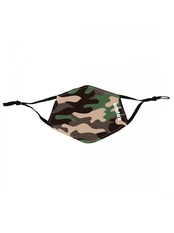 Omtex Face Mask - Camo Green Pack Of 3