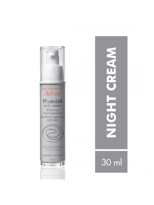 Avene Physiolift Night Smoothing, Regenerating Night Balm 30 ml