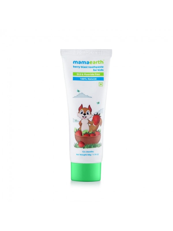 Mamaearth Natural Berry Blast Tooth Paste For Kids 50gm