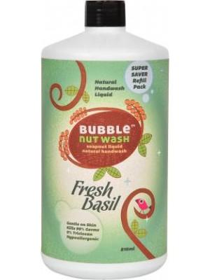 Bubblenut Hand Wash Liquid Fresh Basil REFILL pack (810 ml)
