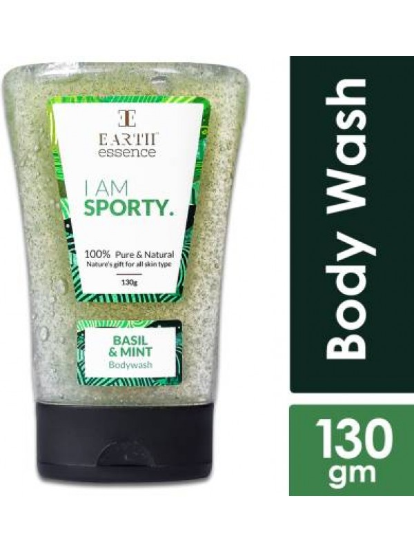 Earth Essence Sporty: Basil and Mint Body Wash- 130g