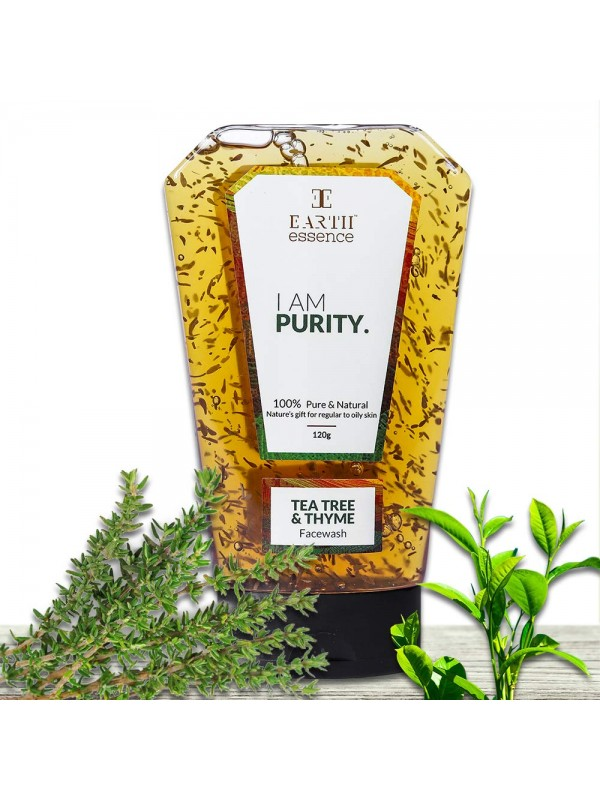 Earth Essence Purity: Tea Tree and Thyme Face Wash- 120g