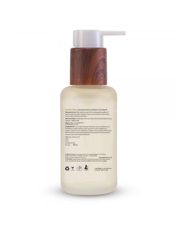 Puresense Relaxing Macadamia Deep Nourishing Face Cleansing Oil 100 ml