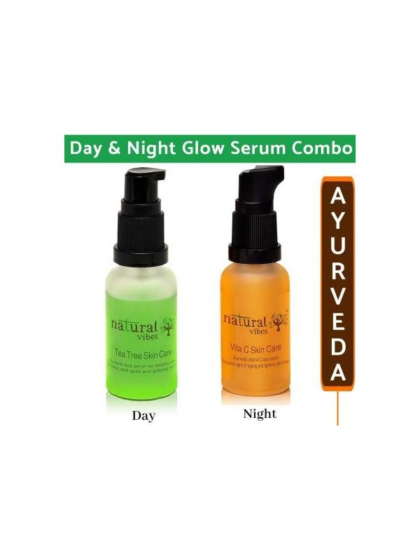 Natural Vibes Repair Glow Combo Tea Tree Vitac Serum 60ml