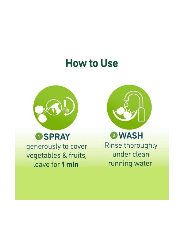 Nimwash Vegetable & Fruit Wash Spray, 100% Natural Action Removes Pesticides & 99. 9% Germs- 450ml