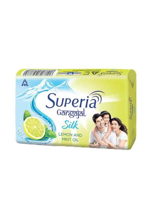 Superia Gangajal Silk Lemon & Mint Soap 100gm x (4+1 Free)