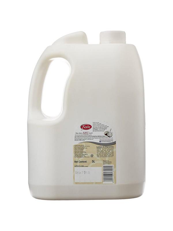 Fem Soft Handz Soap Handwash Lemon & Glycerine 5L