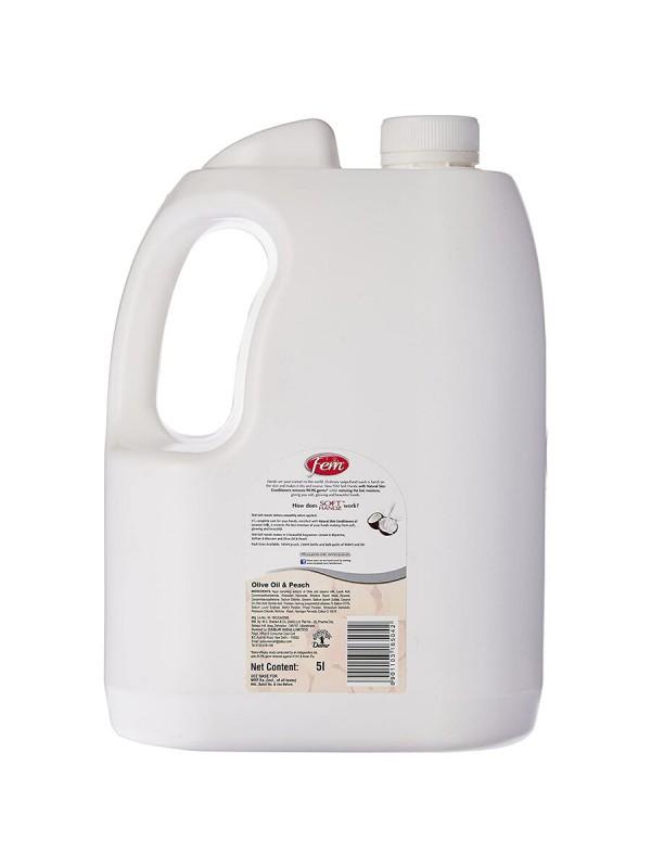 Dabur Fem Soft Handz Soap Handwash Olive Oil & Peach 5L