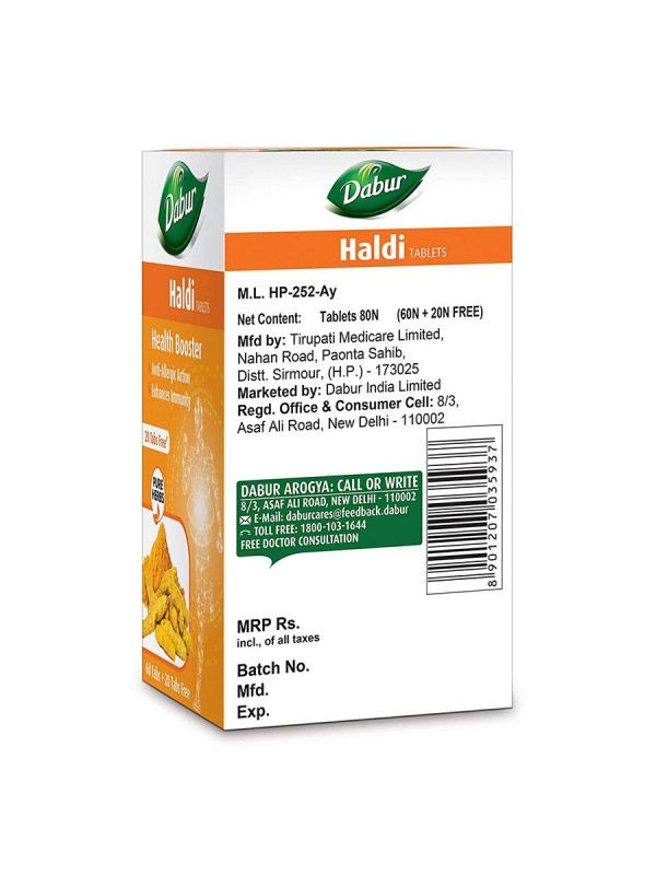 Dabur Health Booster Haldi 60 Tablets