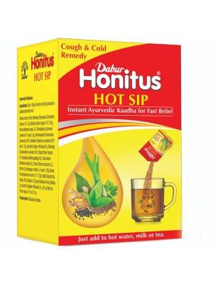Dabur Honitus Hot Sip Ayurvedic Kaadha - 4 g Sachets (Pack of 7)
