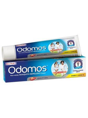 Dabur Odomos Non-Sticky Mosquito Repellent Cream (With Vitamin E & Almond) 100g
