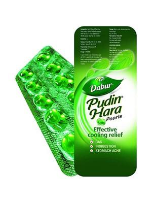 Dabur Pudin Hara Pearl 12 strips dispenser (10 Tablets)