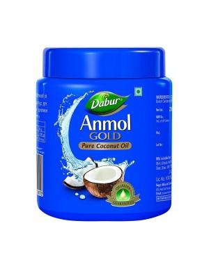 Dabur Anmol Gold Coconut Hair Oil Blue (Wide Mouth) 500ml