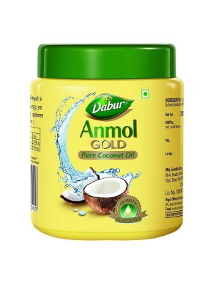 Dabur Anmol Gold Pure Coconut Hair Oil - Yellow (Wide Mouth) 175ml