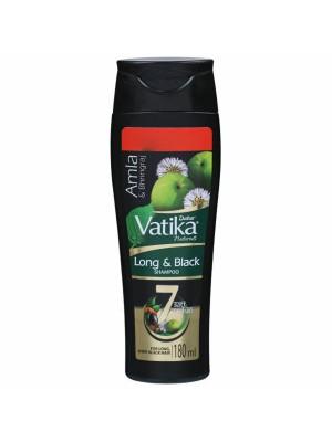 Dabur Vatika Long & Black Hair Shampoo for Men & Women - 180ml