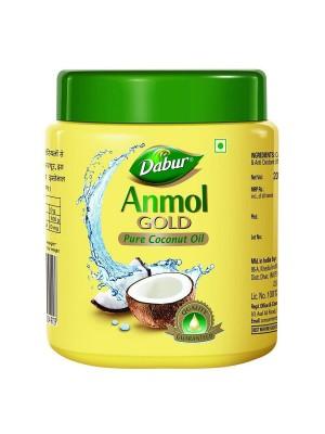 Dabur Anmol Gold Pure Coconut Hair Oil - Yellow (Wide Mouth) 500ml