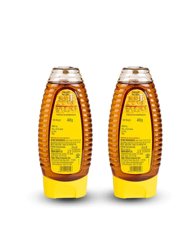 Dabur 100% Pure Honey Squeezy Pack 400gm ( Buy 1 Get 1 Free)