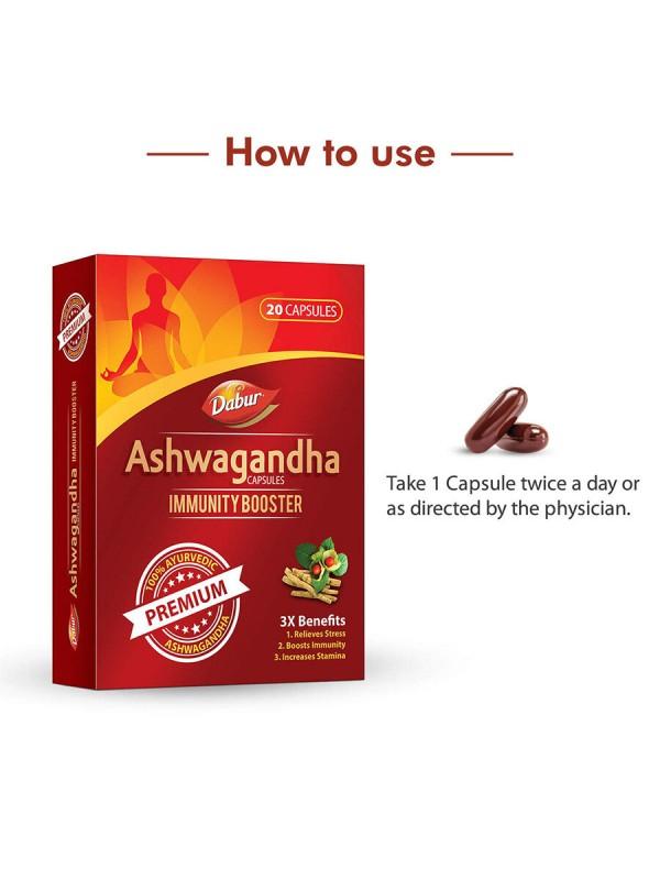 Dabur Ashwagandha Immunity Booster - 20 Capsules