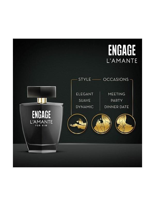 Engage L'amante Eau De Toilette Perfume for Men 75ml