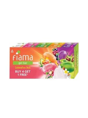 Fiama Gel Bar Celebration Pack with 5 unique Gel Bars - 125g (Buy 4 get 1 Free)