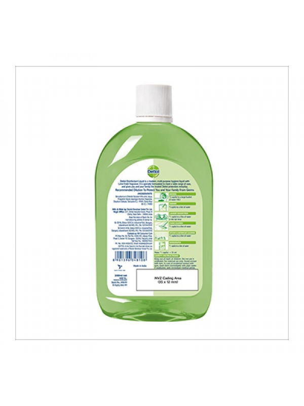 Dettol Liquid Disinfectant Cleaner for Home, Lime Fresh - 1L