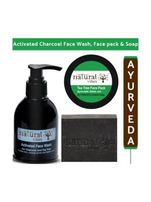 Natural Vibes Charcoal Skin Care Regime