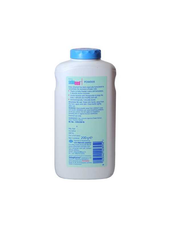 Sebamed Baby Powder with Honeysuckle - 200 gm