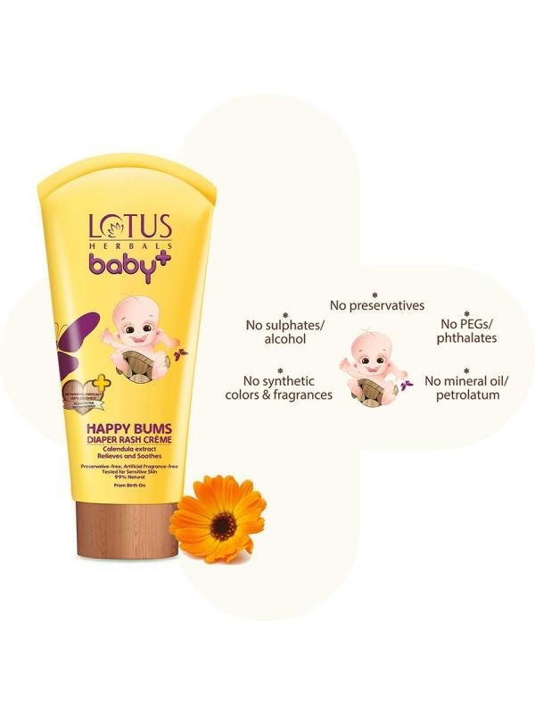 Lotus Baby Plus Happy Bums Diaper Rash Cream - 100 gm