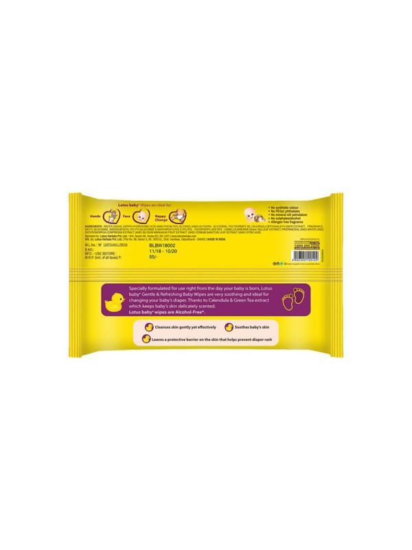 Lotus Baby Plus Gentle & Refreshing Baby Wipes (10 pcs)
