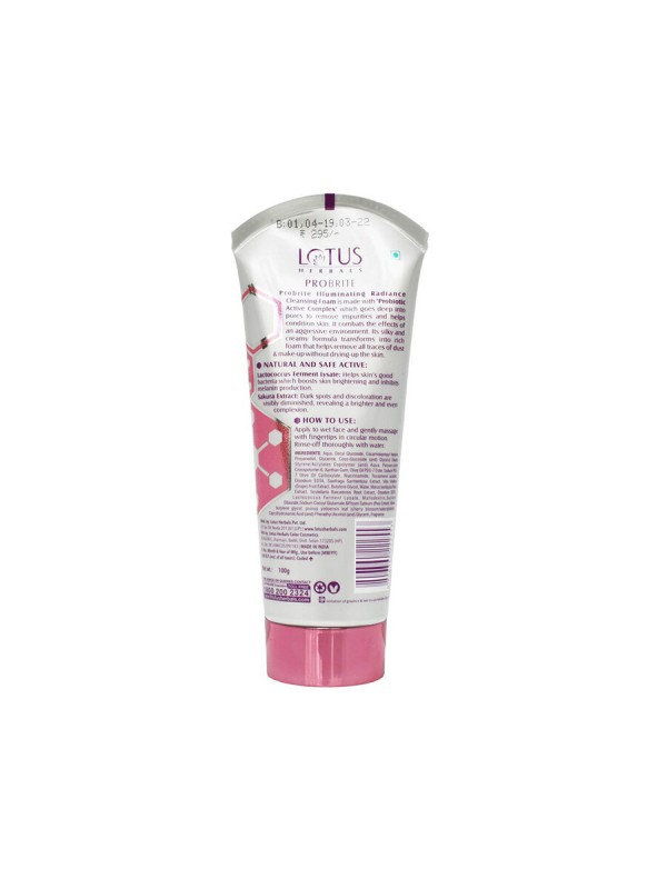 Lotus Probrite Illuminating Radiance Cleansing Foam