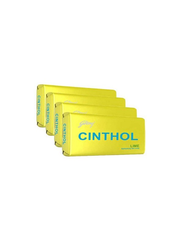 Cinthol Lime Soap 100g (Pack of 4) with 50g Insta Deo Soap Free