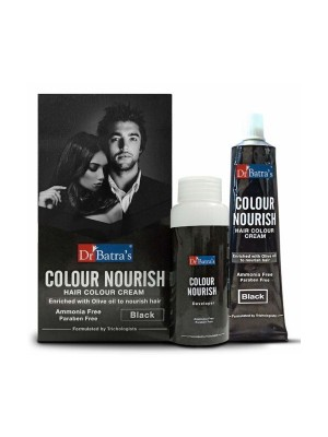 Dr Batra's Colour Nourish Hair Colour Cream - Black - 120 gm