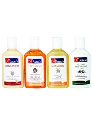 Dr Batra's Travel Kit 120 ml - With Shampoo 30ml Face Wash 30 G Lotion 30 ml And Hand Wash 30 ml