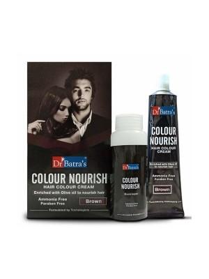 Dr Batra's Colour Nourish Hair Colour Cream - Brown - 120 gm