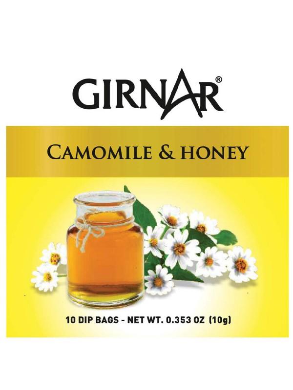 Girnar Camomile Infusion with Honey Tea (10 Tea Bags)