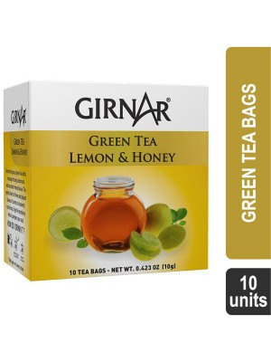 Girnar Green Tea Lemon & Honey (10 Tea Bags)