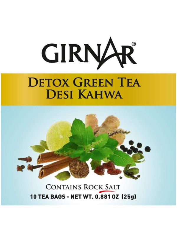 Girnar Detox Green Tea (Desi Kahwa) (10 Tea Bags)