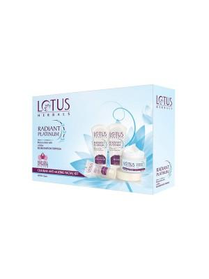 Lotus Radiant Platinum Cellular Anti-Ageing Facial Kit  (4 x 42.5gm)
