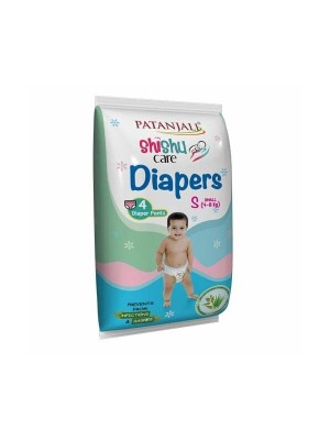 Patanjali Shishu Care Small Size Baby Diaper 4 Count