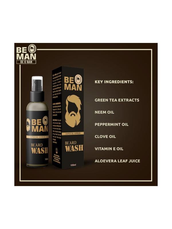 Be O Man Sensual Amber Beardwash 100ml